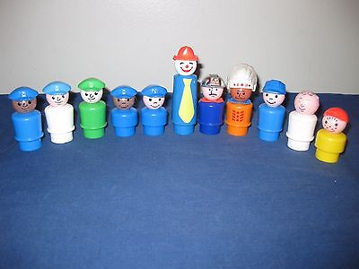 Vintage Fisher Price Little People Lot of 11 Figures