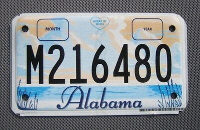 Alabam Motorcycle License Plate #m216480