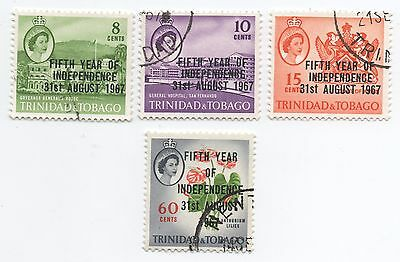 Trinidad & Tobago QEII 1967 5th year of independence stamps nice used