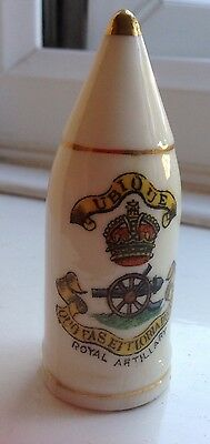 Arcadian Crested Ware Royal Artillary Crest on Bullet Shell