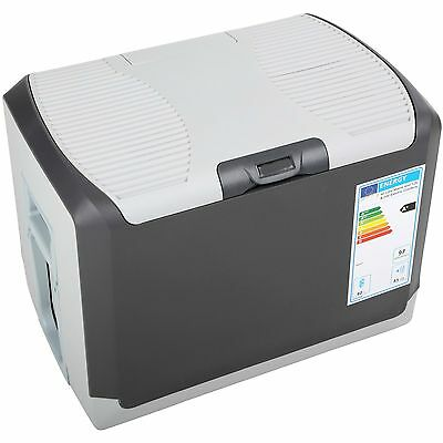 Electric Coolbox 40 Litre Mains & 12v GREY Cool Box - Energy A+
