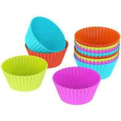 Set Di 25 Pirottini Formine In Silicone Per Cupcake, Muffin, Tortine | 5 Colori