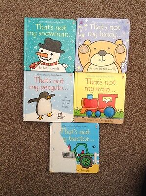 5 X Usbourne 'That's not my' (touchy freely books)