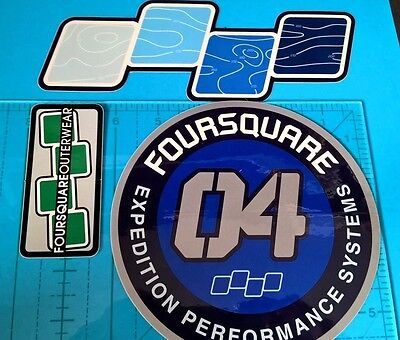 Four Square Outerwear stickers Snowboard skiing winter wear sticker lot