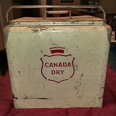 Vintage Canada Dry Cooler!! Progress Refrigerator Co. Louisville Ky.