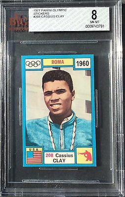 1971 Cassius Clay ROOKIE (RC) Panini Olympia Boxing Card (208) BVG BGS 8 NM-M