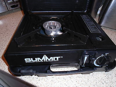 Summit Portable Gas Cooker, Single Burner Stove, In Carry Case