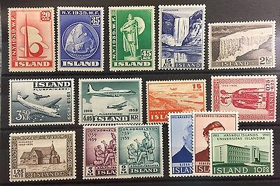 Iceland nice selection mint hinged stamps