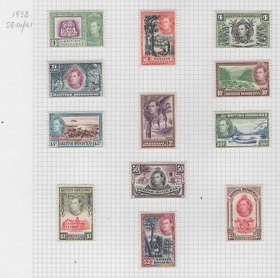 1938 British Honduras complete set SG 150/161 - CV 190 pounds. Lovely fresh MH