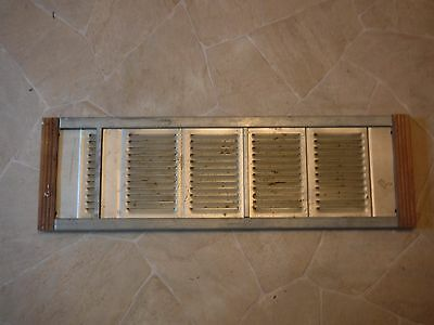 VINTAGE  MARVIN Aluminum w Wood Frame Window Vents-Air Vents For Attic or Other