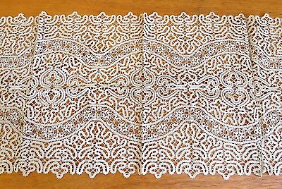 Antique Lace Placemats Table Runner Handmade Bobbin 9 pc Set Ecru