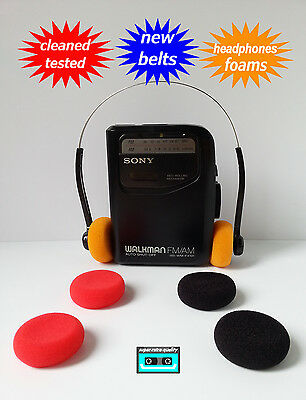SONY WM-FX131 Walkman cassette radio player NEW BELTS CLEANED WORKING & TESTED!