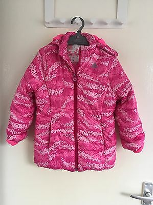 Girls Pink Adidas Coat Age 5-6