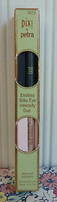 NEW IN BOX PIXI by PETRA WATERPROOF DUO EYELINER BLUE EYE INTENSIFY #0673