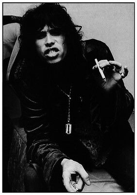 Aerosmith Steven Tyler Smoking B&W Photo Poster UK Import 23.5 x 33