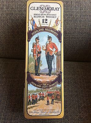 Glen Moray Whiskey Collectible Tin Regiments Series Highland Light Infantry