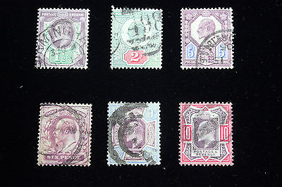 Lot of 6 Very Rare Great Britain  Postal  Postage Stamps  $20 + ea   GREAs001