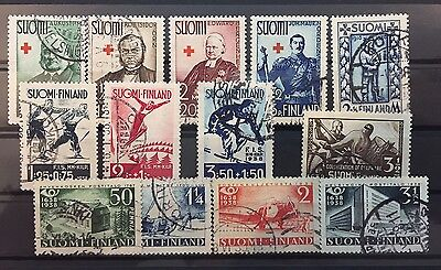 1938 Finland complete year set fine used cat val £50