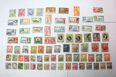 Lot of 77 Barbados  Postal  Postage Stamps Mixed   Collection  BARB001
