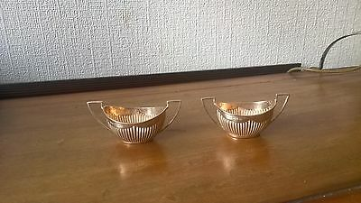 pair of Birmingham Silver Salts 1898 maker unclear