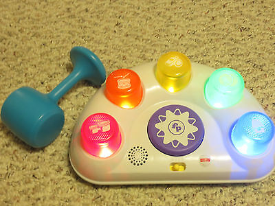 Fisher-Price Tappin' Beats Bench Toy Musical Drum for Babies and Toddlers