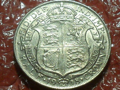 1918 George V half crown.
