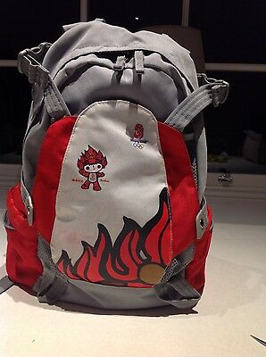 Beijing Olympic 2008 Back Pack large red & grey