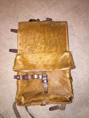 WWII Swiss Army Pony Hair Tornister Backpack Rucksack 1944 Thurgau Soldier Name