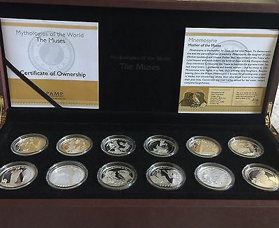 Fiji 2011 Mythologies of the World Muses Silver 12-Coin Proof Set with CoA / Box