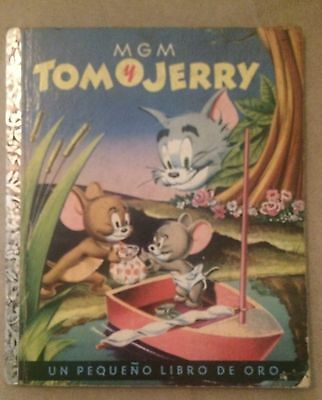 Tom and Jerry MGM vintage children's book in Spanish