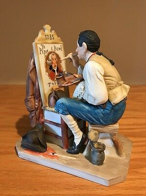NORMAN ROCKWELL figurine- OLD SIGN PAINTER