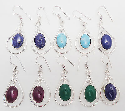 Fantastic Jewelry New Design 925 Sterling Silver Overlay 5Prs Dangle Earring