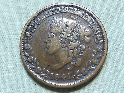 1841 Hard Times Pre Civil War Token - Specie Payments Suspended - Item 160