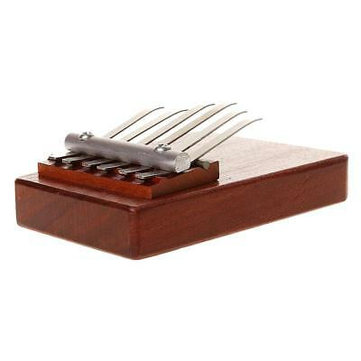 Brown Africano Mbira Redwood 6 Clave Kalimba Thumb Piano Musical Aprendizaje