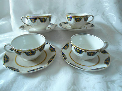 "Vintage J & G Meakin ""SOL"" set of 4 cups and saucers England"