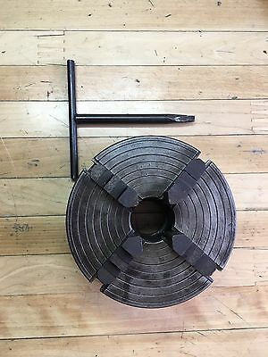 """Atlas Lathe 6"""" 4 Jaw Buck Chuck 1 1/2""""x 8 Tpi With Reversible Jaws Model 444"""