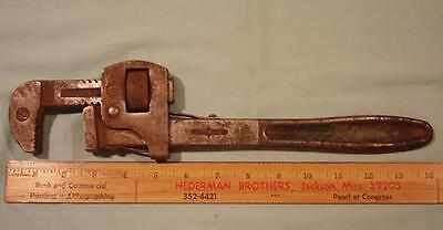 "Vintage Stillson  14"" Erie Tool Works Pipe Wrench Erie Pa"