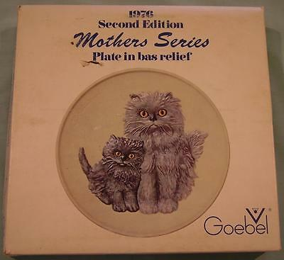 GOEBEL MOTHERS SERIES 2nd EDITION MOTHER CAT & KITTEN PLATE 1976