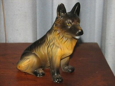 Ceramic German Shepherd Dog Puppy Figurine Figure 5""