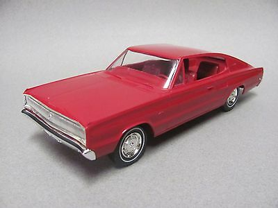Beautiful MPC 1967 Dodge Charger Promo - Rare Bright Red, Near Mint Condition!