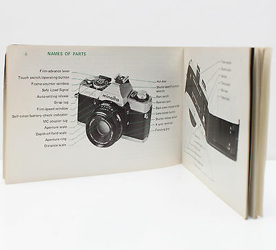 Minolta XG-1 35mm Film SLR Camera Owner's Manual Instructions 1970s