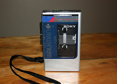 Rare Vintage Sony WM-F8 Walkman - Canada/Canadian Leaf Version - Works great!