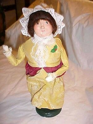 RARE FIRST Edition 1985 Mrs. Fezziwig Byers Choice Christmas Carol Collectible