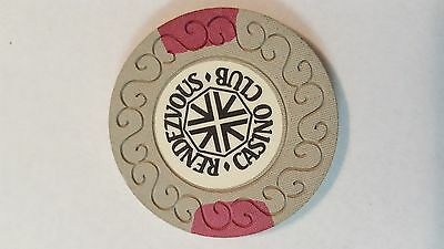 Vintage 25p casino chip from The Rendezvous Casino in London (Now Playboy).
