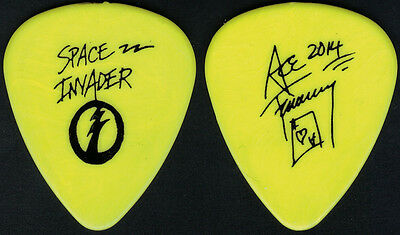 Kiss-Ace Frehley Space Invader Solo Tour Guitar Pick-Ace's Own Pick-Yellow/black
