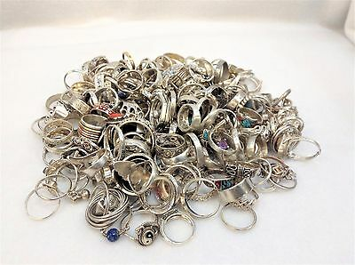 200 STERLING SILVER RING LOT Vintage to Modern / Wearable - NOT SCRAP