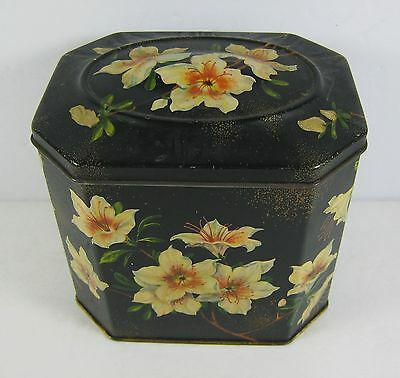 Vintage Gray Dunn Biscuit Tin Hinged Lid