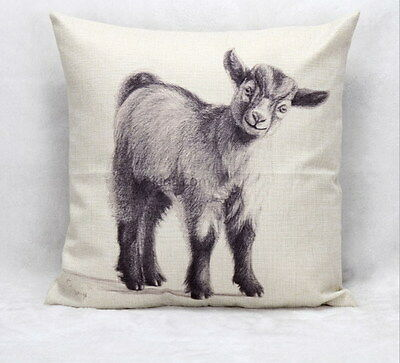 Baby Goat Kid Cushion Cover