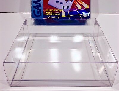 1 Clear Box Protector For The ORIGINAL GAME BOY PINK/PURPLE Console Box   Case