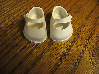50's Vogue Ginnette white shoes plastic Mary Janes label Ginnette USA
